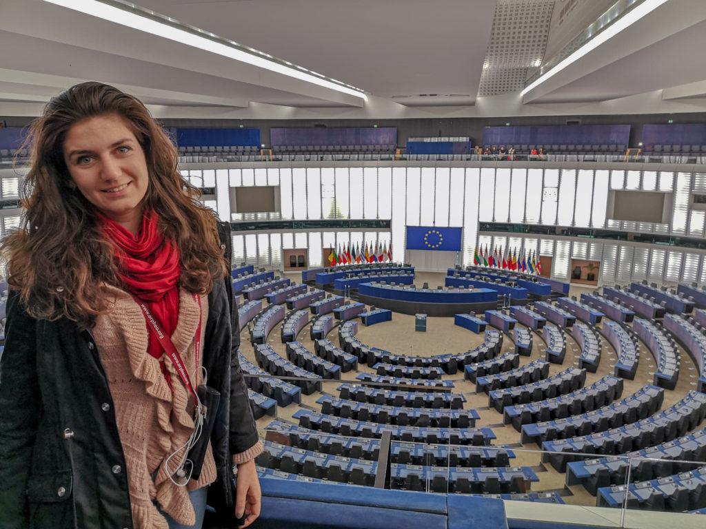 cladirea parlamentului european stasbourg franta hemiciclu
